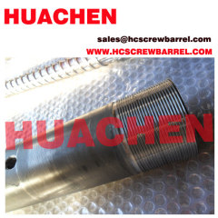 Bimetallic PVC screw barrel