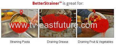 Red Flexible Better Strainer