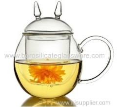 Cat Type Hand Blown Herbal Teas Glass Tea Cup