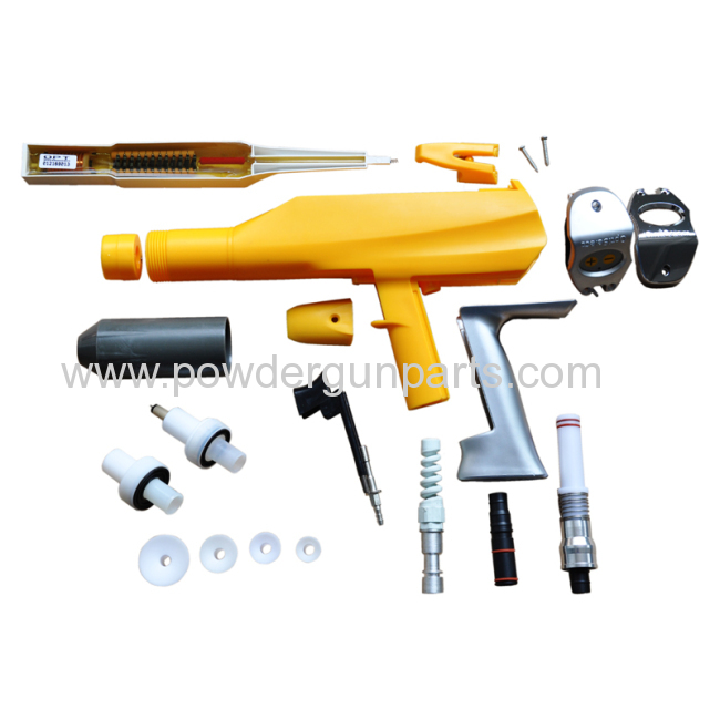 manual electrostatic powder coating spray gun easy to clean and portable