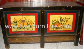 Antique Mongolia buffet 4 doors and 2 drawers