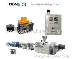 Full automatic screen changer for extrusion machine