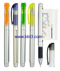 Promotional gel ink pen with advertising flag
