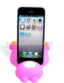 cute bear-shaped wholesale silicone phone holder