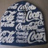 100% cotton 4 darts knitted beanie with full printing