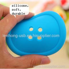 Button shape cup coaster