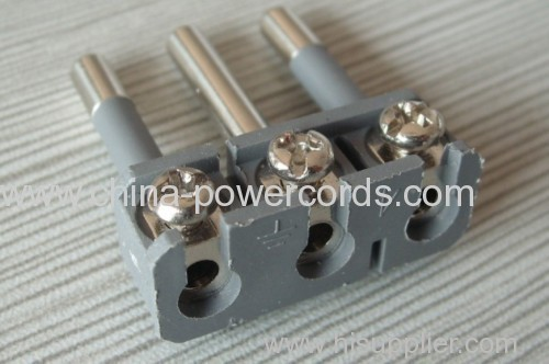 Italy plug inserts with screw