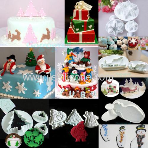 Popularly use Chrismas tree shaped silicone cake moulds