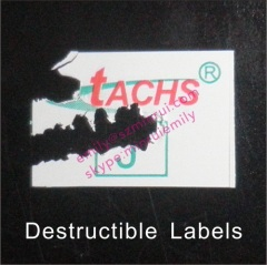 Custom Destructible Paper Labels