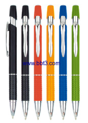 Promotional click aluminum ballpen with metal ring accessories