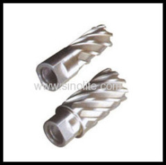 hole annular cutter for thread shank