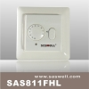 floor heating thermostat with two pole isolate switch
