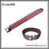 fashion leather bracelet with crystal rhinestone
