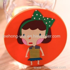 rubber tea cup coaster