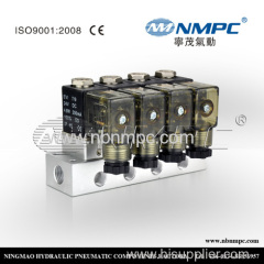 4 valves or 5 valves Three way miniature solenoid valves