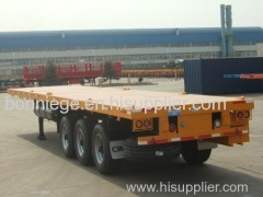flatbed container semi trailer