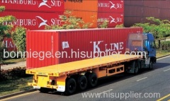 semi flatbed trailer of container