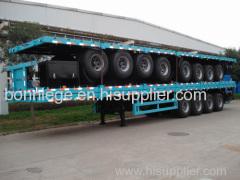 flatbed container semi truck trailer