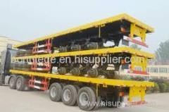 skeletal semi trailer of container