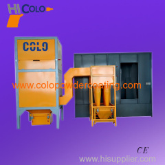 Powder spray booth with 9 pcs multi cyclone
