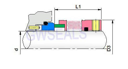 metal bellow high temperature mechanical seals