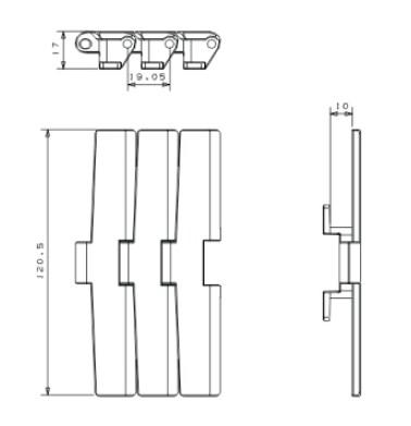 Table Top conveyor Chain