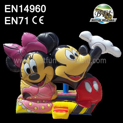 Inflatable Mickey Mouse Bouncer And Slide For Party