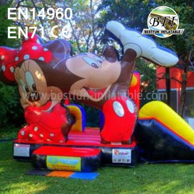 Inflatable Mickey Mouse Slide Bouncer For Children