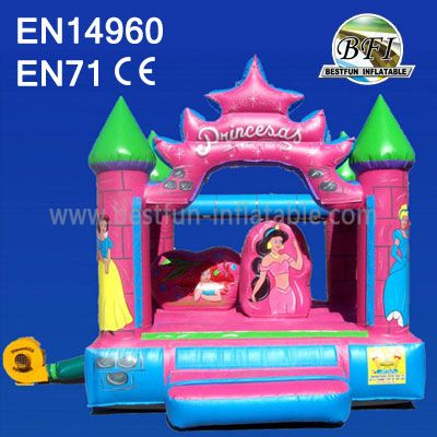Girls Inflatable Princess Bouncy Castle