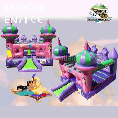 New Design Inflatable Aladdin Princess Castles