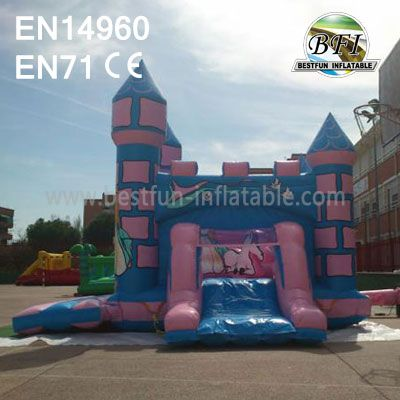 Giant Inflatable Princess Bouncy Castle For Carnival Party
