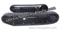crawler mounted rubber track undercarriage