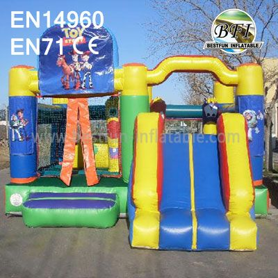 Inflatable Toy Story Moonwalk With Slide