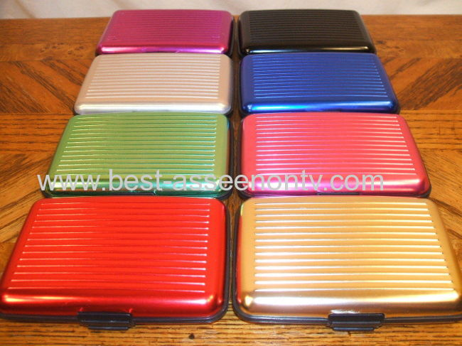 DELUXE ALUMA STYLE ALUMINUM WALLET RFID PROTECTION CHINA SELLER 8 COLORS