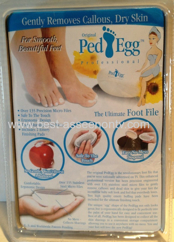 NEWWhite PED EGG Professional Foot File for Smooth Beautiful Feet