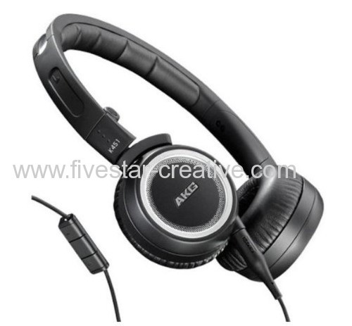 AKG K451 Foldable Mini Over-the-Ear Headsets with In-line Microphone