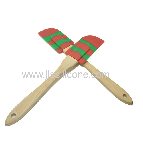 New arrival Durable food grade silicone spatula with wooden handle