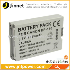 Decoded Battery for Canon VIXIA BP-110