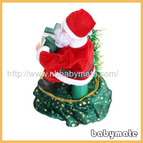 "10"" playing accordion Santa Claus"