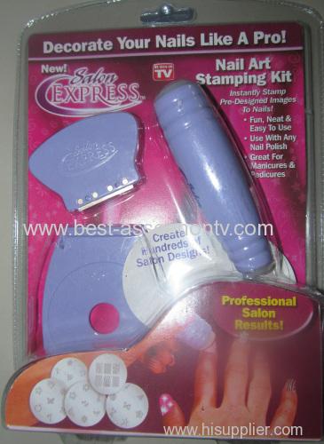 Nail Art Stamp Stamping Kit Manicure Design Polish As Seen On TV