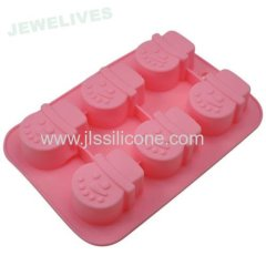 Christmas silicone bakeware cake molds with snow man shaped