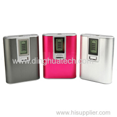 LCD mobile power supply with single USB output with 4000mAh capacity