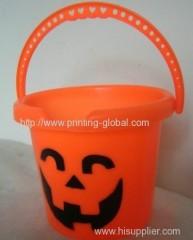 Heat transfer film for Halloween bucket