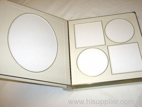 leather album with different design paper folder