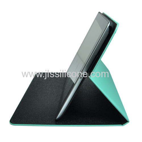 fashionable leather cover case for iPad 2 stand
