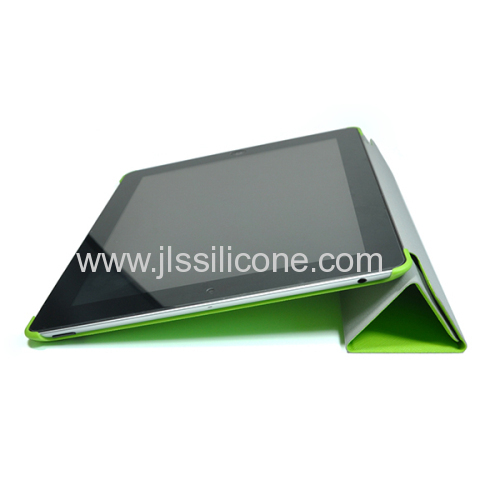Durable stand case for ipad 2 with leather material