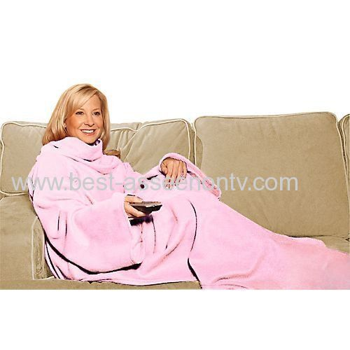 SNUGGIE The Blanket That Has Sleeves Adults One-Size-Fits-All Beige..As Seen On TV Super Soft Fleece