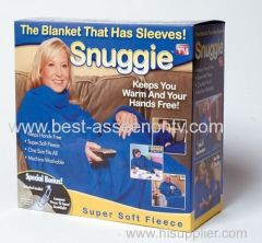 SNUGGIE The Blanket That Has Sleeves Adults One-Size-Fits-All Beige..BookLight