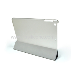 Fashion design leather cover for ipad air stand