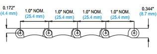 Flush Grid Modular plastic conveyor belt